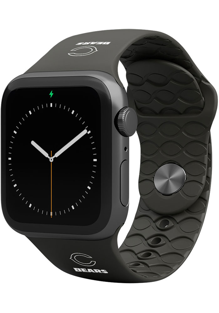 Groove Life Chicago Bears Black 42mm Silicone Apple Watch Band - Image 1