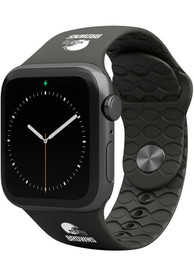 Cleveland Browns Groove Life 42mm Silicone Apple Watch Band - Black
