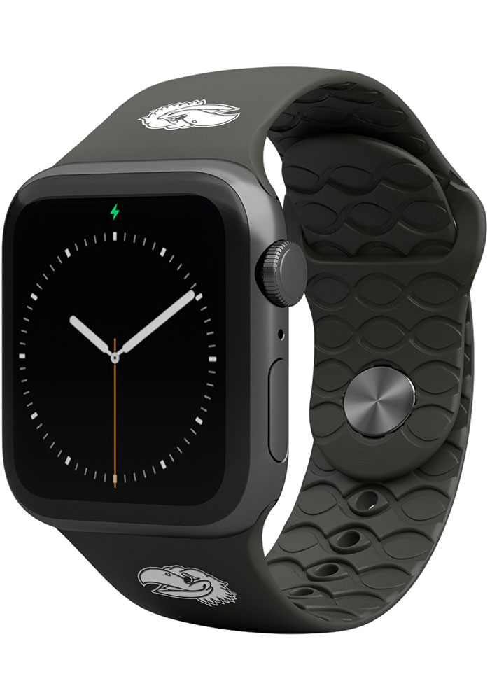 Kansas Jayhawks Groove Life 42mm Silicone Apple Watch Band - Black