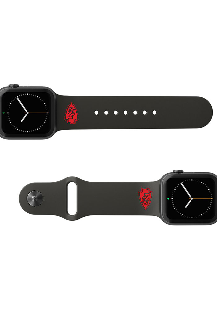 Groove Life Kansas City Chiefs Black 42mm Silicone Apple Watch Band - Image 2