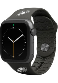 Philadelphia Eagles Groove Life 42mm Silicone Apple Watch Band - Black