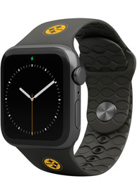 Pittsburgh Steelers Groove Life 42mm Silicone Apple Watch Band - Black