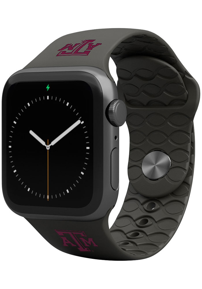 Texas A&M Aggies Groove Life 38mm Silicone Apple Watch Band - Black