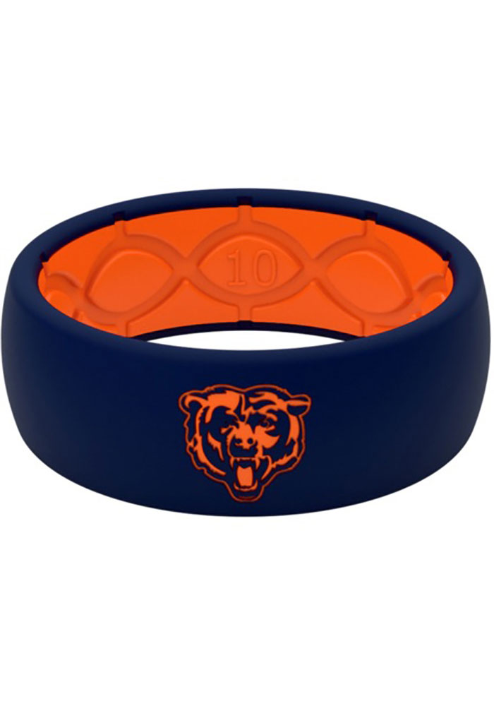 Chicago Bears Groove Life Full Color Silicone Ring - Navy Blue