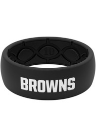 Cleveland Browns Groove Life Black Silicone Ring - Black