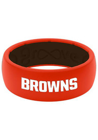 Cleveland Browns Groove Life Full Color Silicone Ring - Orange