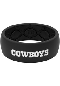 Dallas Cowboys Groove Life Black Silicone Ring - Black