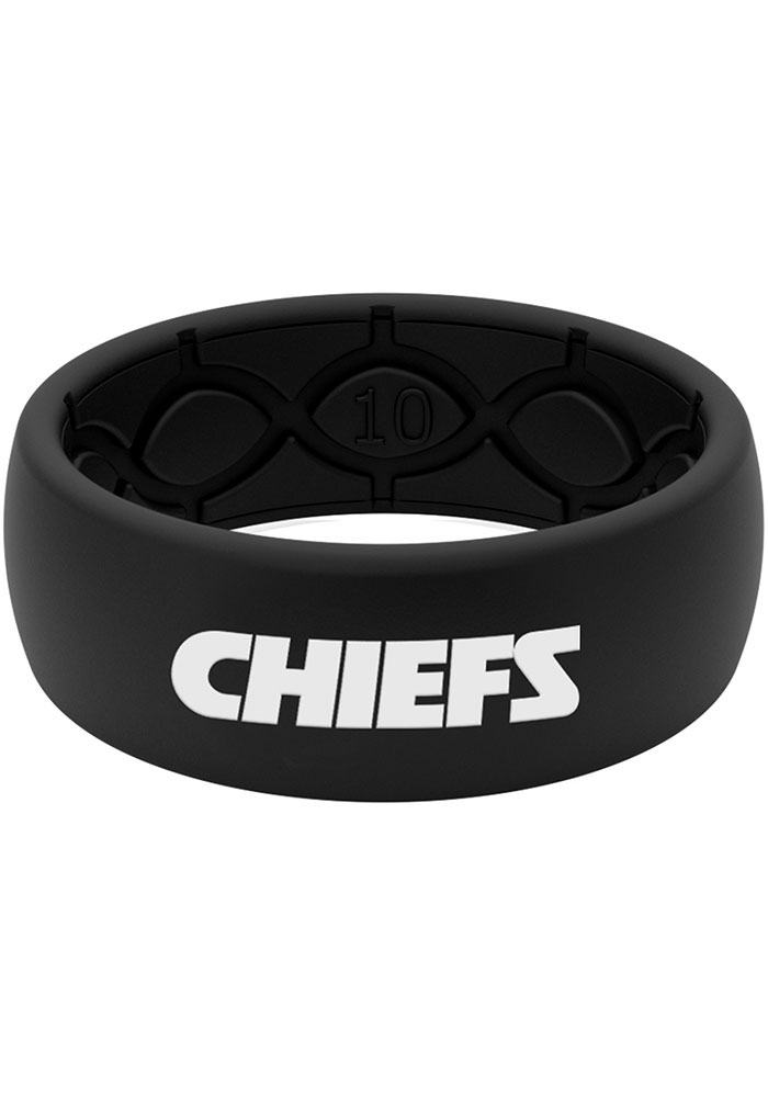 Groove Life Kansas City Chiefs Black Silicone Mens Ring - Image 1