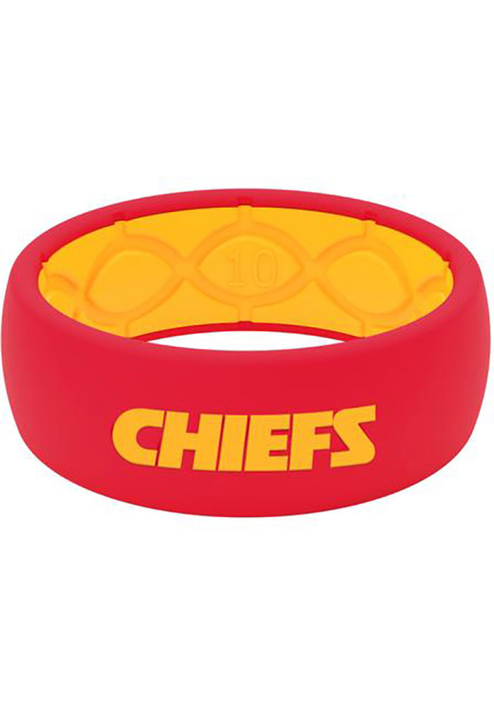 Groove Life Kansas City Chiefs Full Color Silicone Mens Ring - Image 1