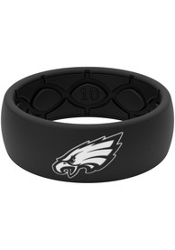 Philadelphia Eagles Groove Life Black Silicone Ring - Black