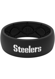 Pittsburgh Steelers Groove Life Black Silicone Ring - Black