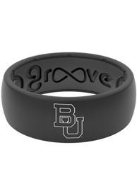 Baylor Bears Groove Life Black Silicone Ring - Black