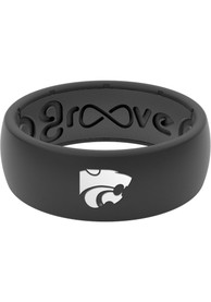 K-State Wildcats Groove Life Black Silicone Ring - Black
