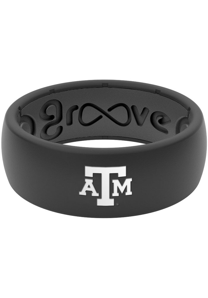 Texas A&M Aggies Groove Life Black Silicone Ring - Black