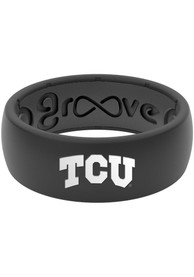 TCU Horned Frogs Groove Life Black Silicone Ring - Black