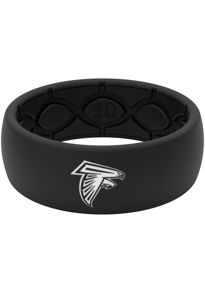 Atlanta Falcons Black Silicone Mens Ring - Image 1