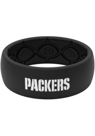 Green Bay Packers Black Silicone Ring - Black
