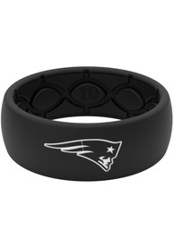 New England Patriots Black Silicone Ring - Black
