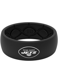 New York Jets Black Silicone Ring - Black