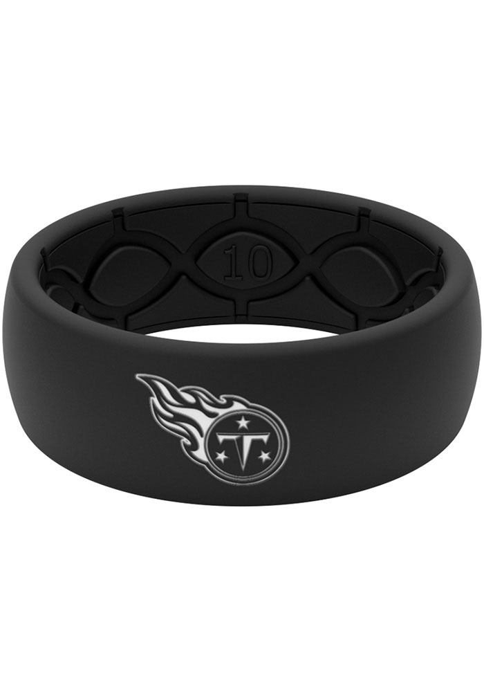 Tennessee Titans Black Silicone Mens Ring - Image 1