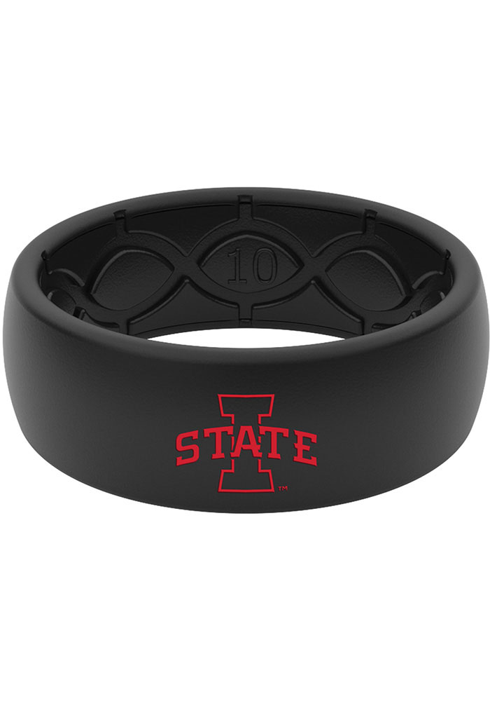 Iowa State Cyclones Color Logo Silicone Mens Ring - Image 1