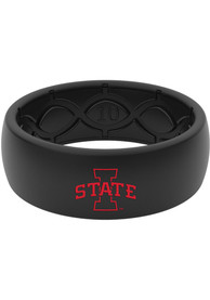 Iowa State Cyclones Color Logo Silicone Ring - Black