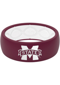 Mississippi State Bulldogs Full Color Silicone Ring - Red