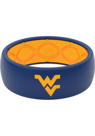 West Virginia Mountaineers Full Color Silicone Ring - Blue