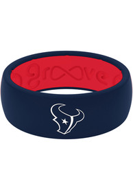 Houston Texans Full Color Silicone Ring - Blue