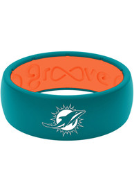 Miami Dolphins Full Color Silicone Ring - Blue