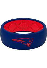 New England Patriots Full Color Silicone Ring - Blue