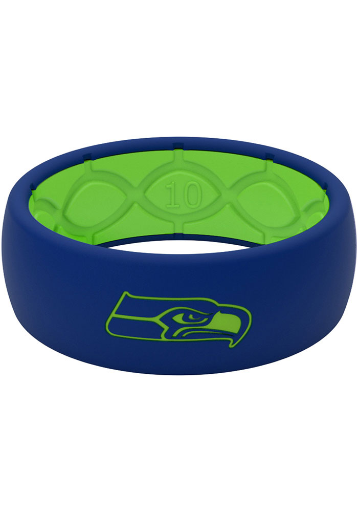 Seattle Seahawks Full Color Silicone Mens Ring - Image 1