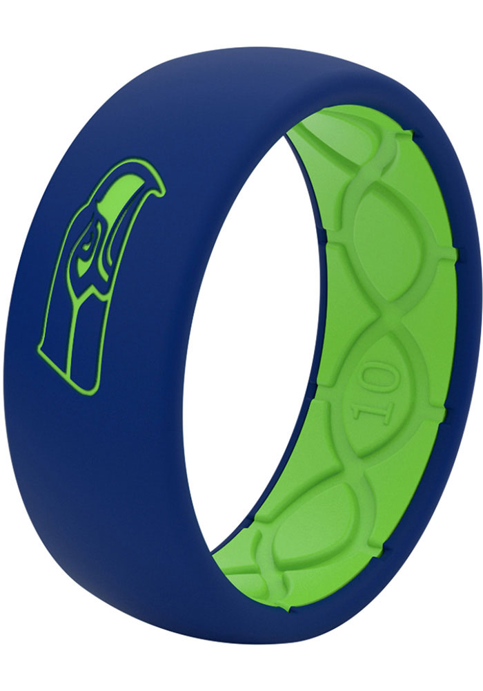 Seattle Seahawks Full Color Silicone Mens Ring - Image 2