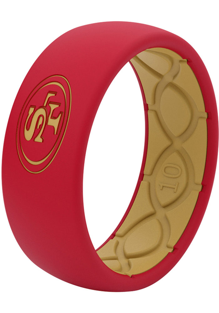 San Francisco 49ers Full Color Silicone Mens Ring - Image 2