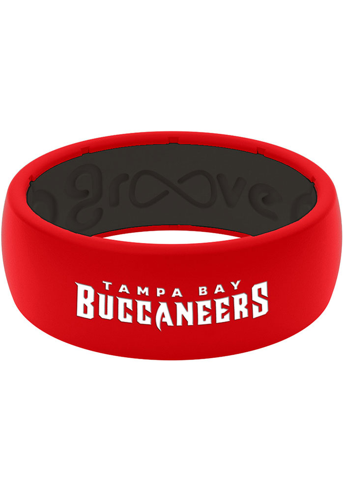 Tampa Bay Buccaneers Full Color Silicone Mens Ring - Image 1