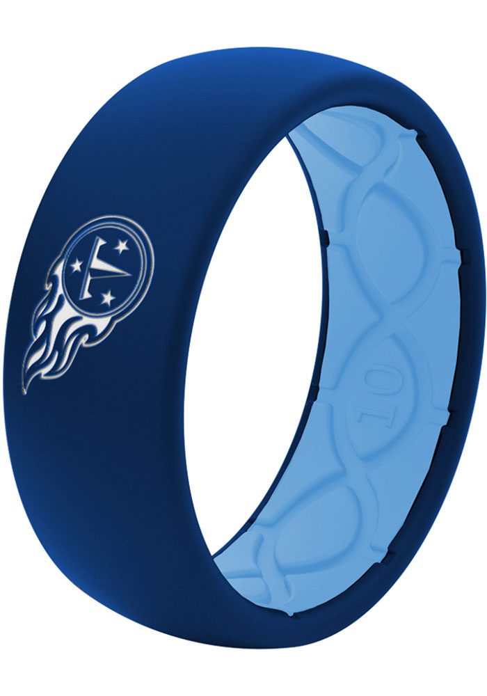 Tennessee Titans Full Color Silicone Mens Ring - Image 1