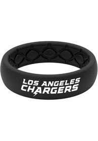 Los Angeles Chargers Womens Thin Black Silicone Ring - Black