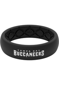 Tampa Bay Buccaneers Womens Thin Black Silicone Ring - Black
