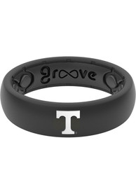 Tennessee Volunteers Womens Thin White Logo Silicone Ring - Black