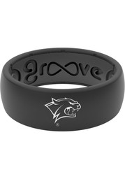 New Hampshire Wildcats White Logo Silicone Mens Ring