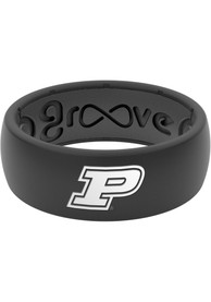 Purdue Boilermakers White Logo Silicone Ring - Black