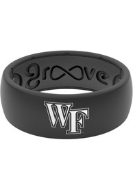Wake Forest Demon Deacons White Logo Silicone Ring - Black