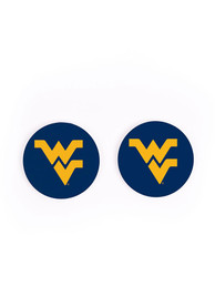 West Virginia Mountaineers 2 Pack Color Logo Car Coaster - Blue