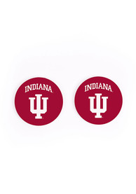 Indiana Hoosiers 2 Pack Color Logo Car Coaster - Red