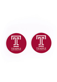 Temple Owls 2 Pack Color Logo Car Coaster - Red