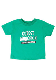 Wizard of Oz Toddler Green Cutest Munckin Short Sleeve T Shirt