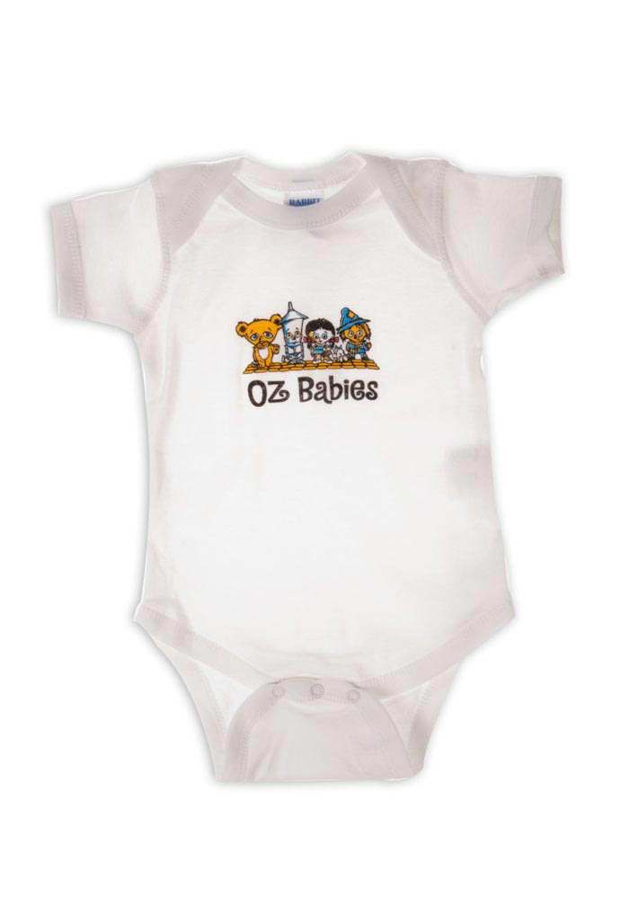 Wizard of Oz Baby White Oz Character Babies Short Sleeve One Piece - Image 1