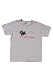 Wizard of Oz Youth Grey Toto No Place Like Home Short Sleeve T Shirt