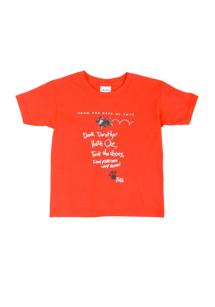 Wizard of Oz Youth Red Letter From Toto Short Sleeve T Shirt - Image 1