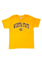 Wichita State Shockers Youth Gold Midsize Arch Short Sleeve T-Shirt